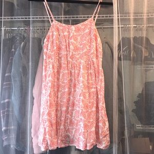 Peach paisley dress